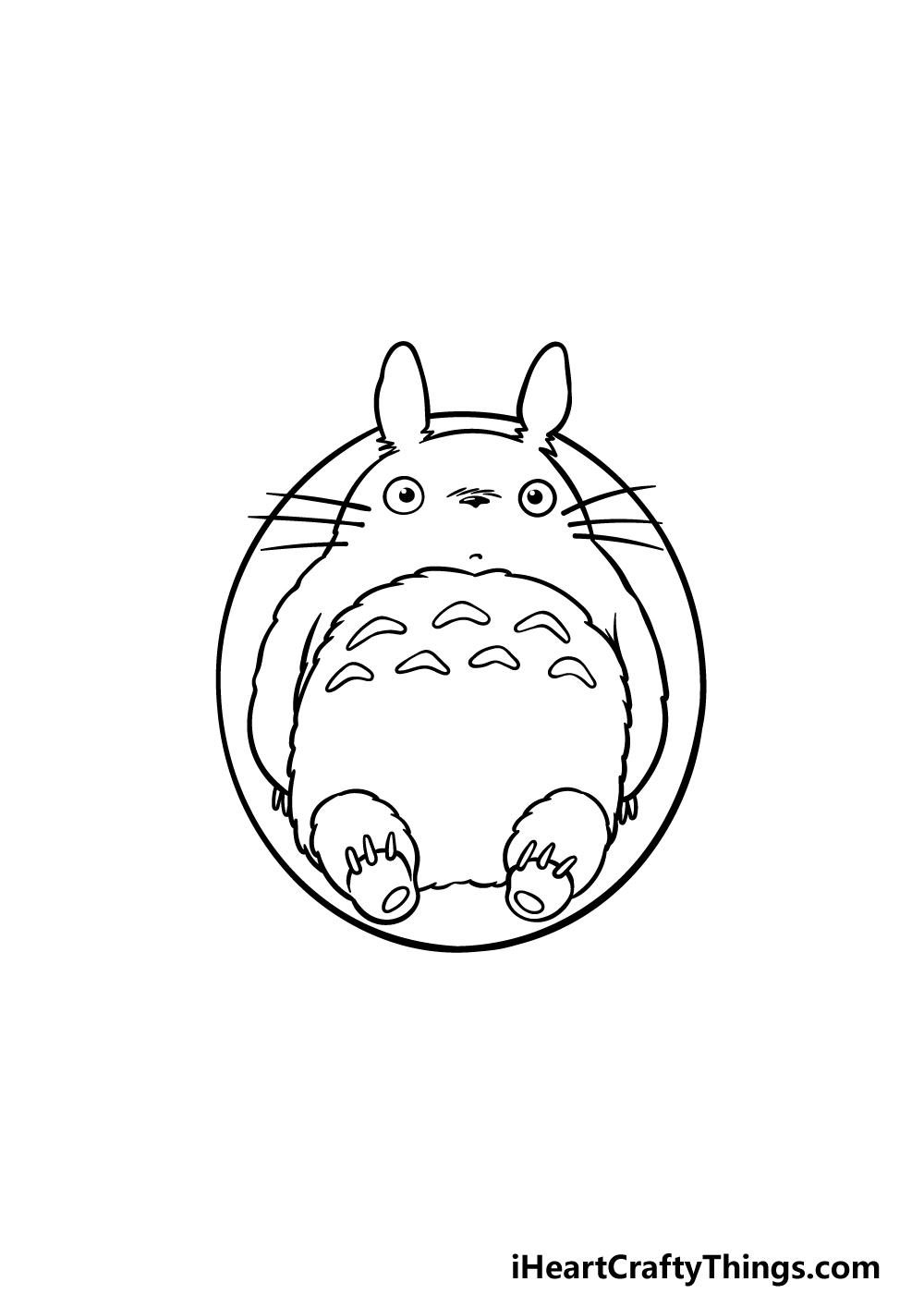 drawing Totoro step 5