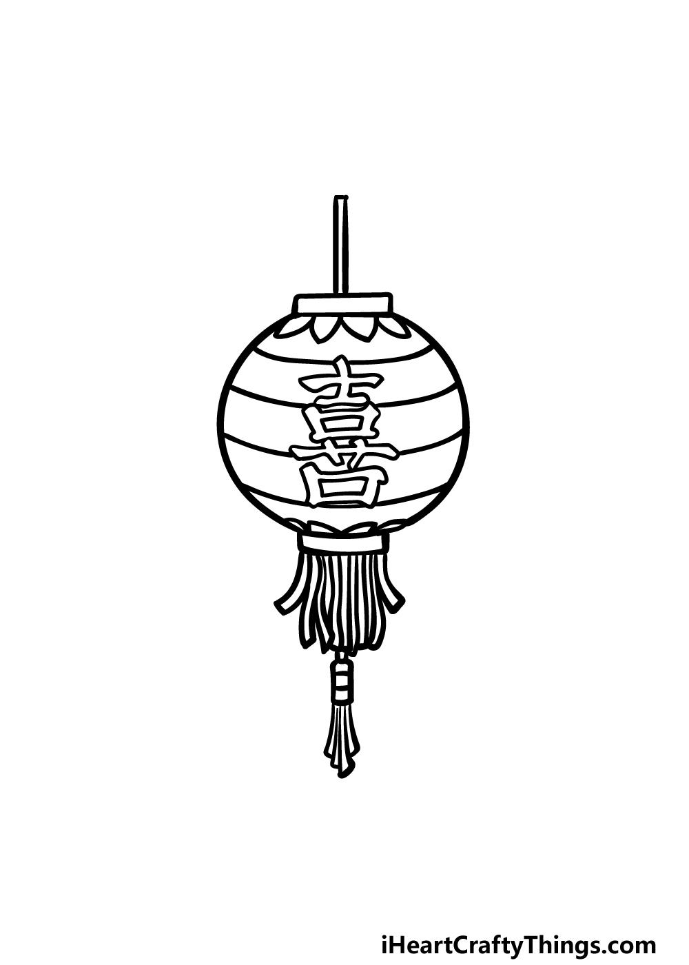 drawing a lantern step 5