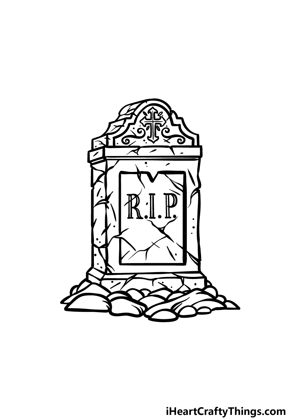 drawing a tombstone step 5