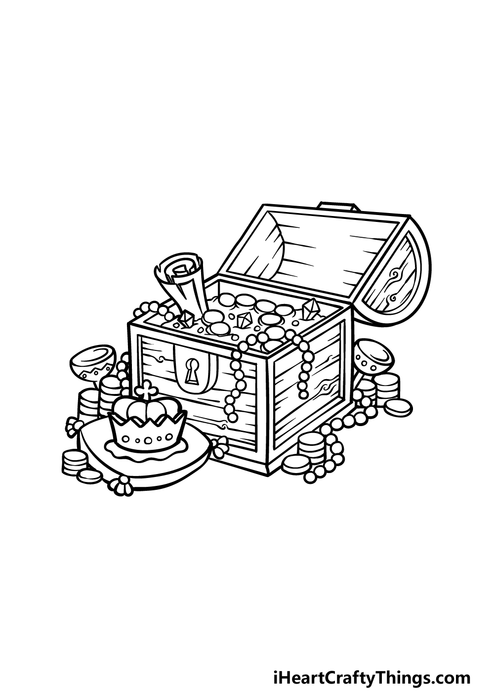 drawing a treasure chest step 5