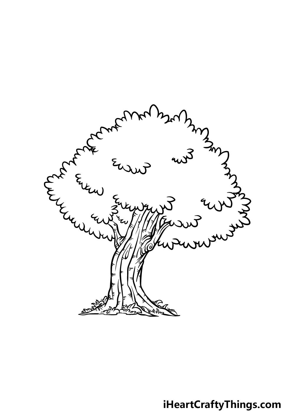 drawing an oak tree step 5