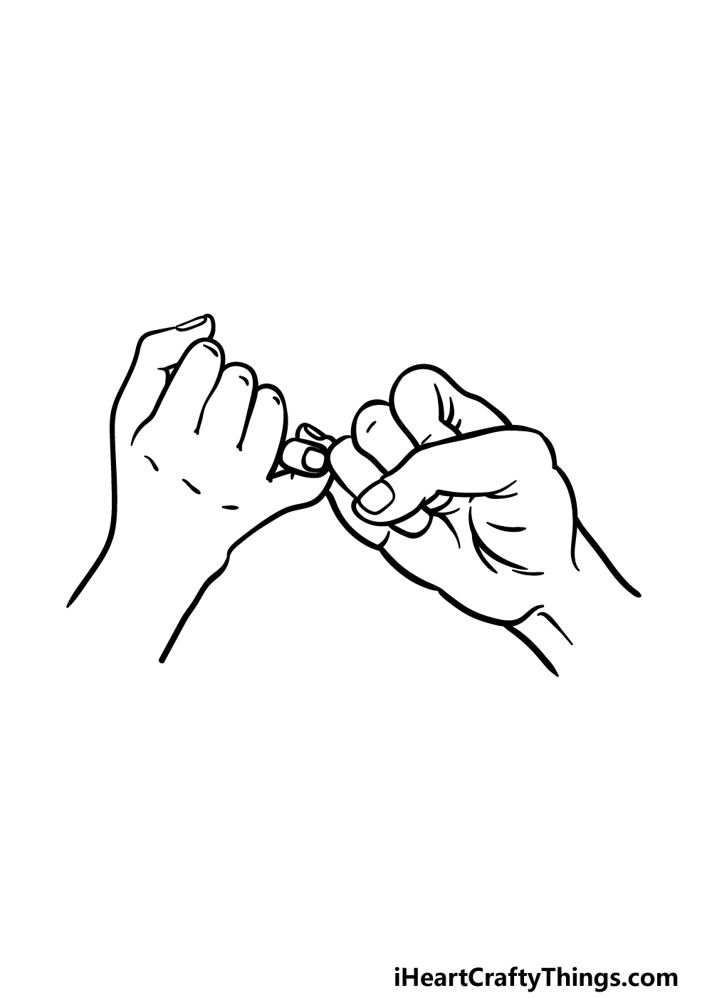 drawing a Pinky Promise step 5