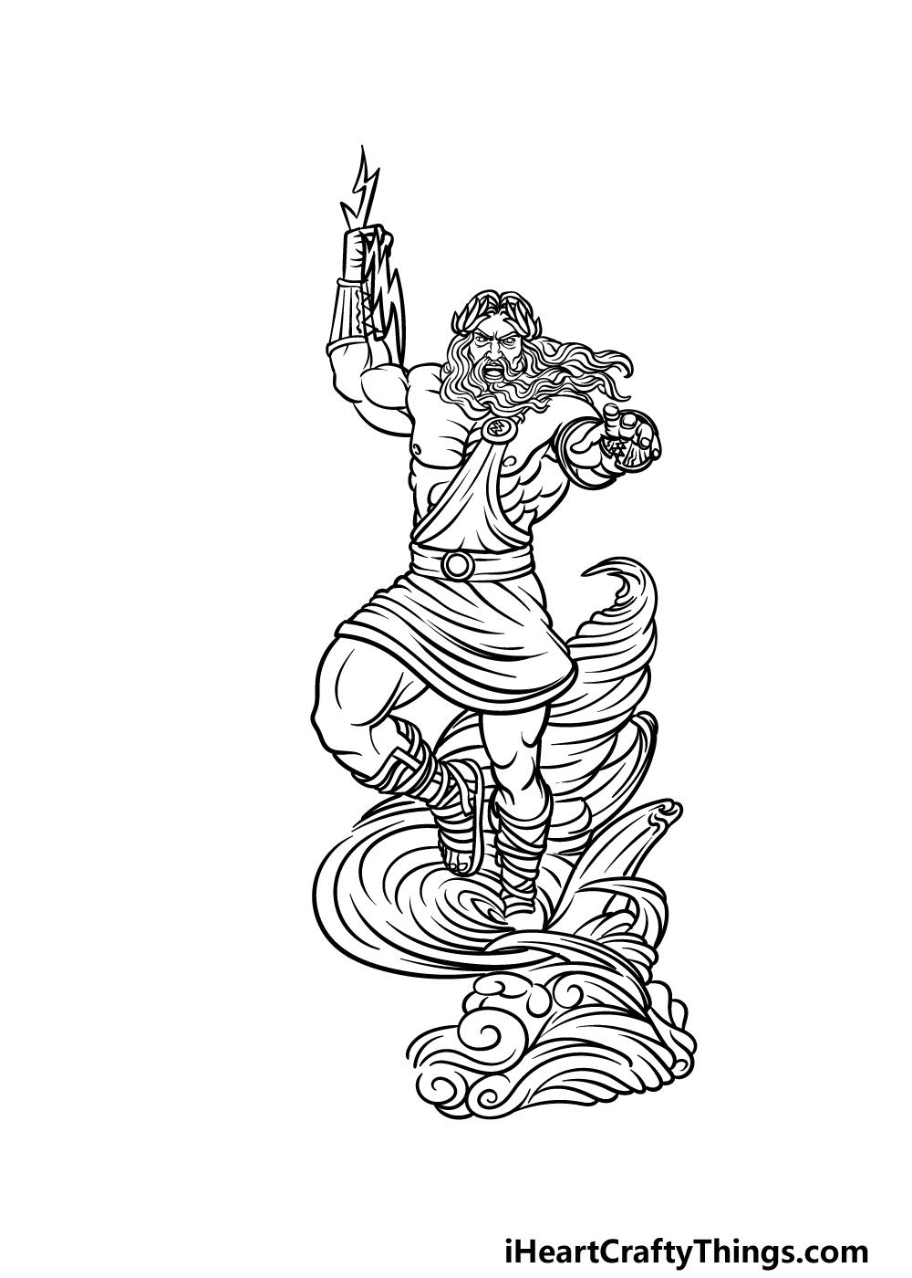 drawing Zeus step 5