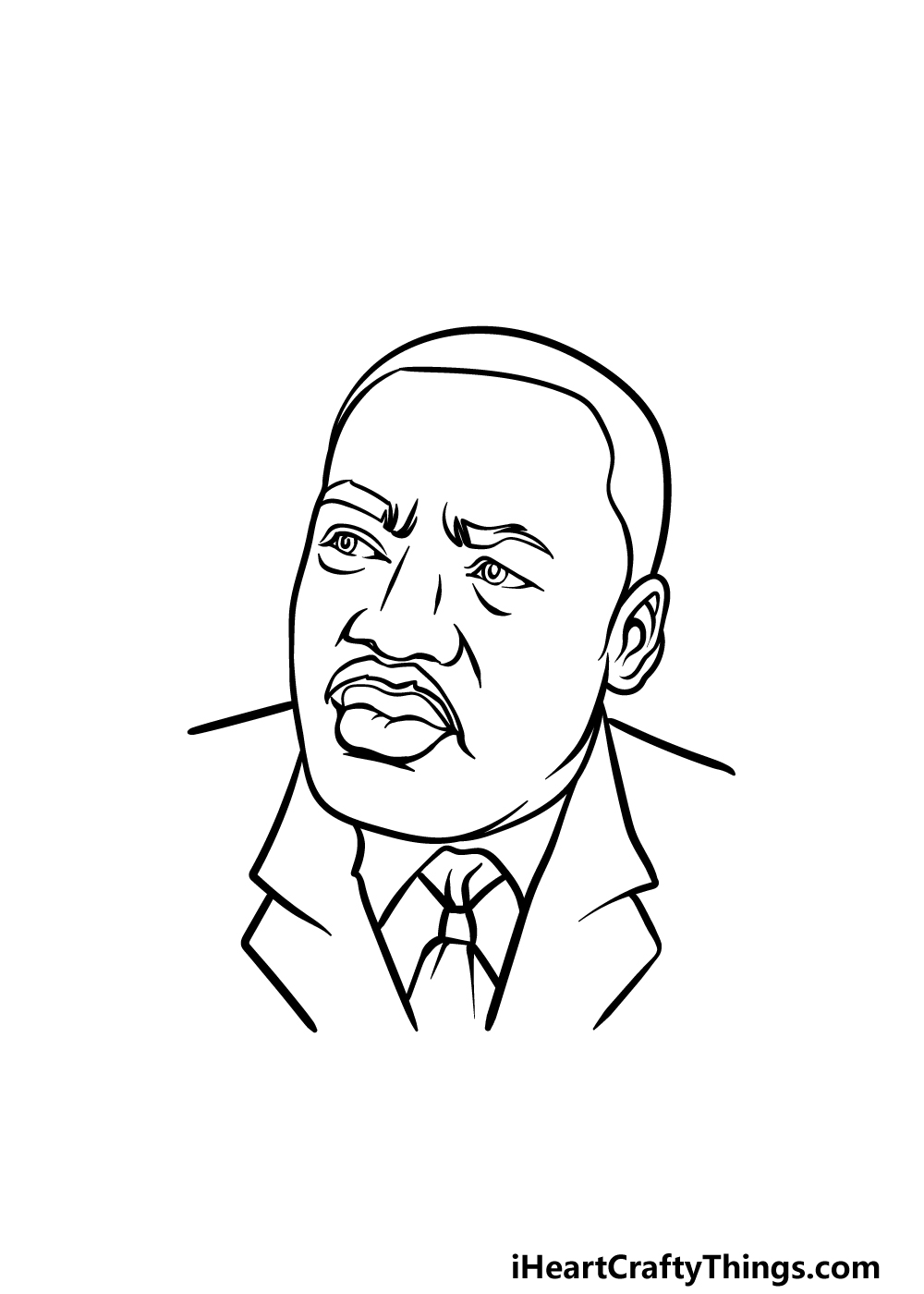 drawing Martin Luther King Jr. step 5