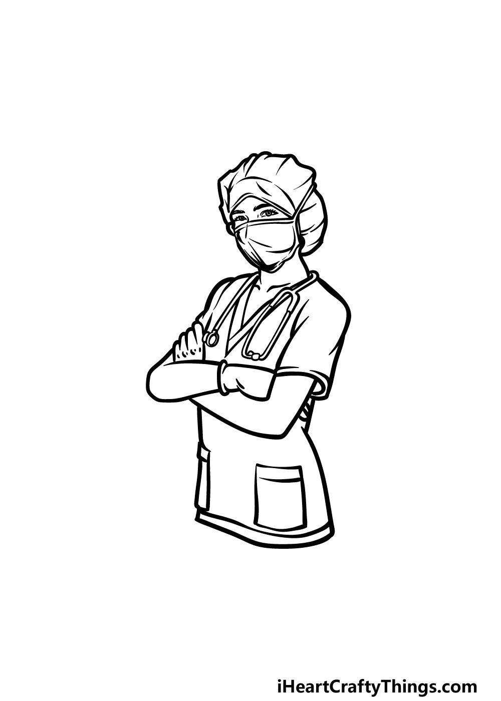 drawing a nurse step 5