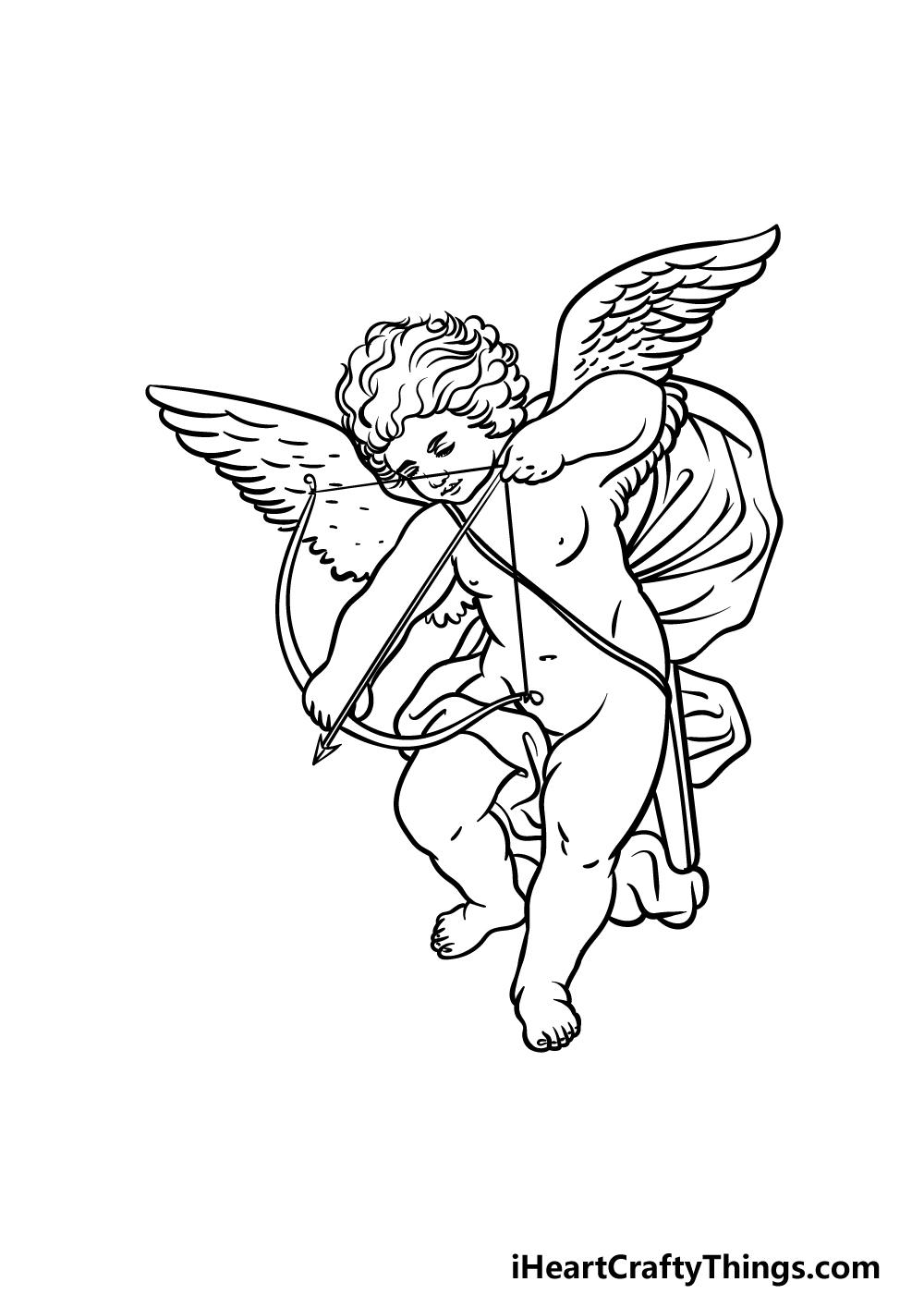 drawing cupid step 5
