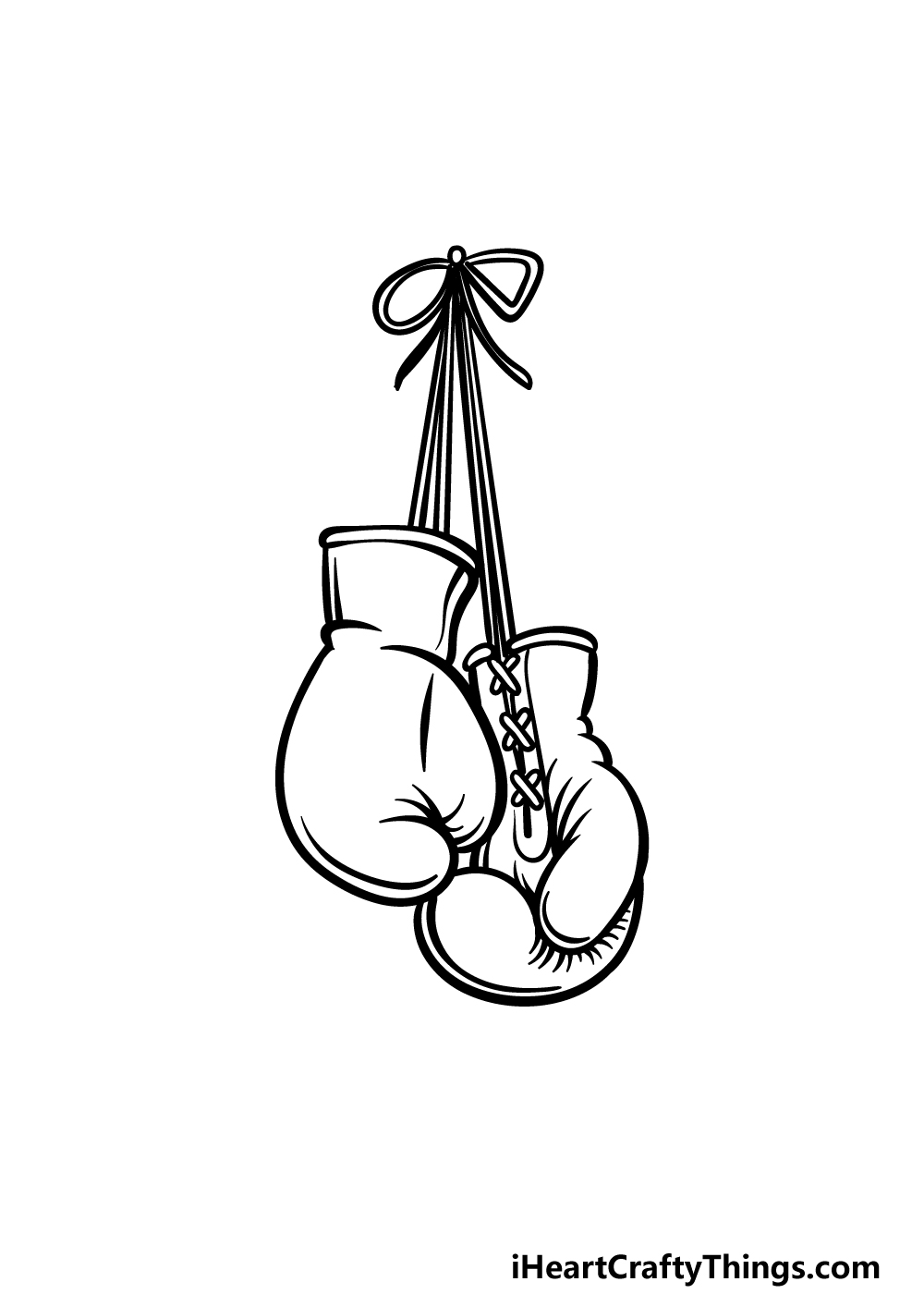 drawing boxing gloves step 5