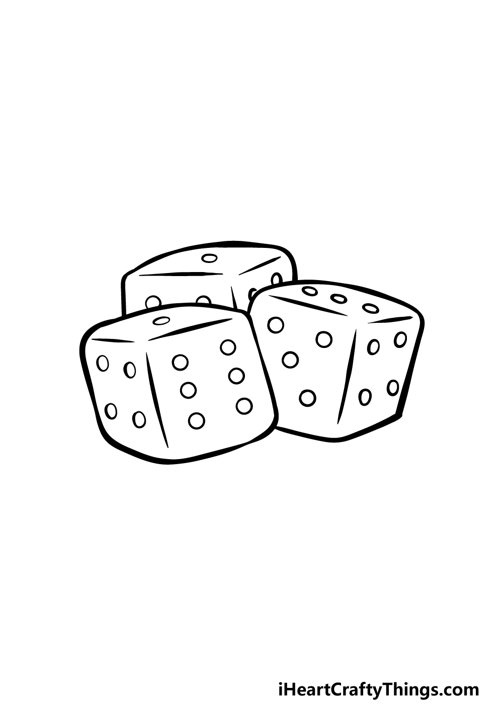 drawing the dice step 5