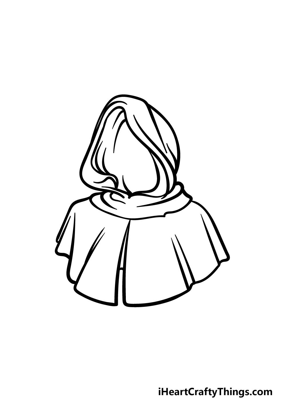 drawing a hood step 5