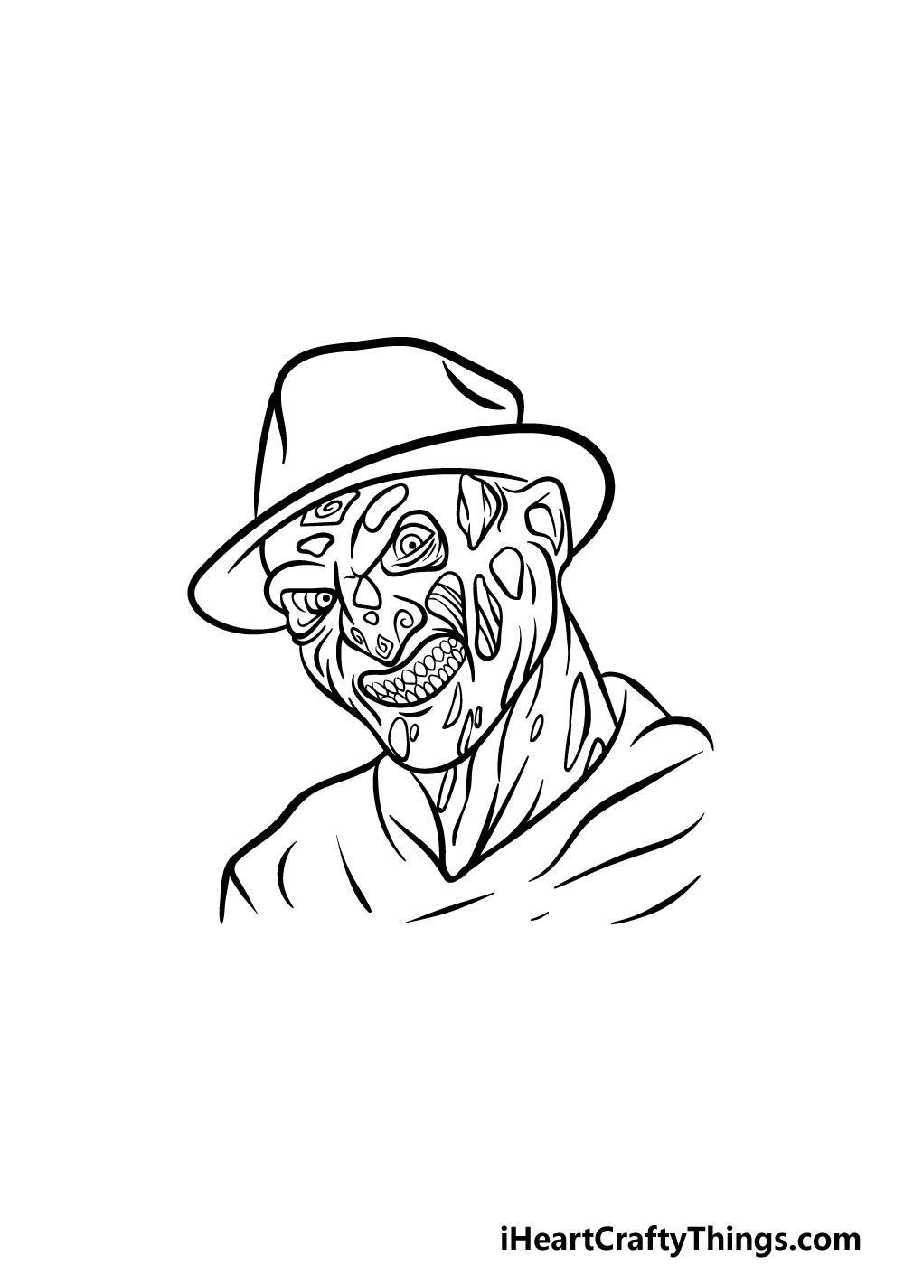 Drawing Freddy Krueger step 5