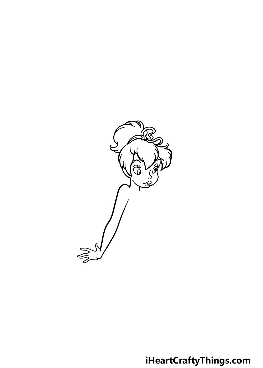 drawing Tinkerbell step 5