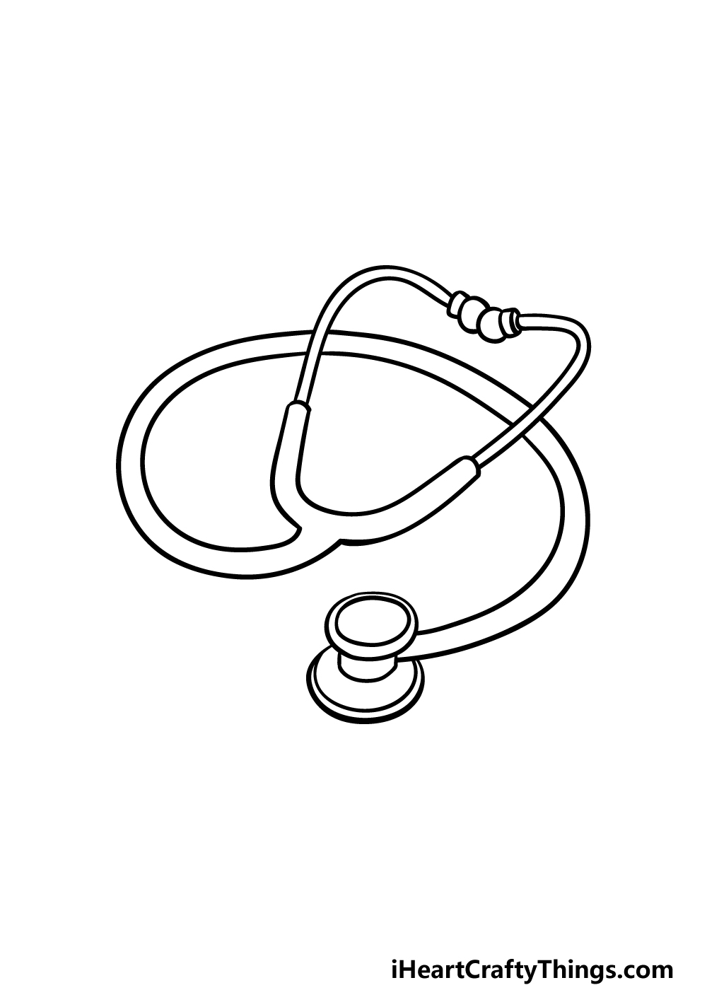 drawing stethoscope step 5
