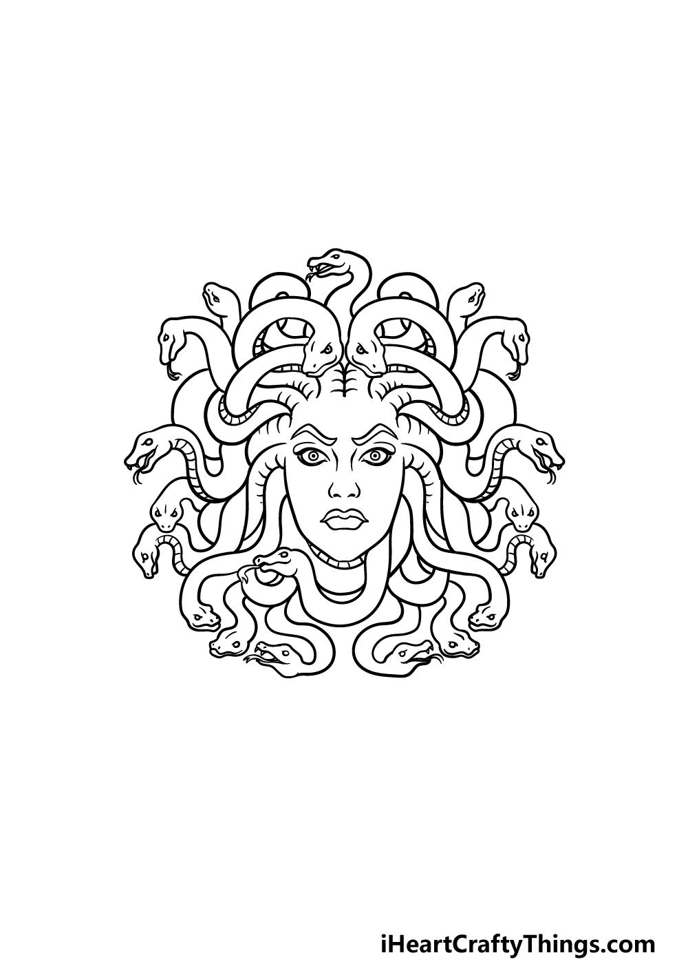 drawing Medusa step 5