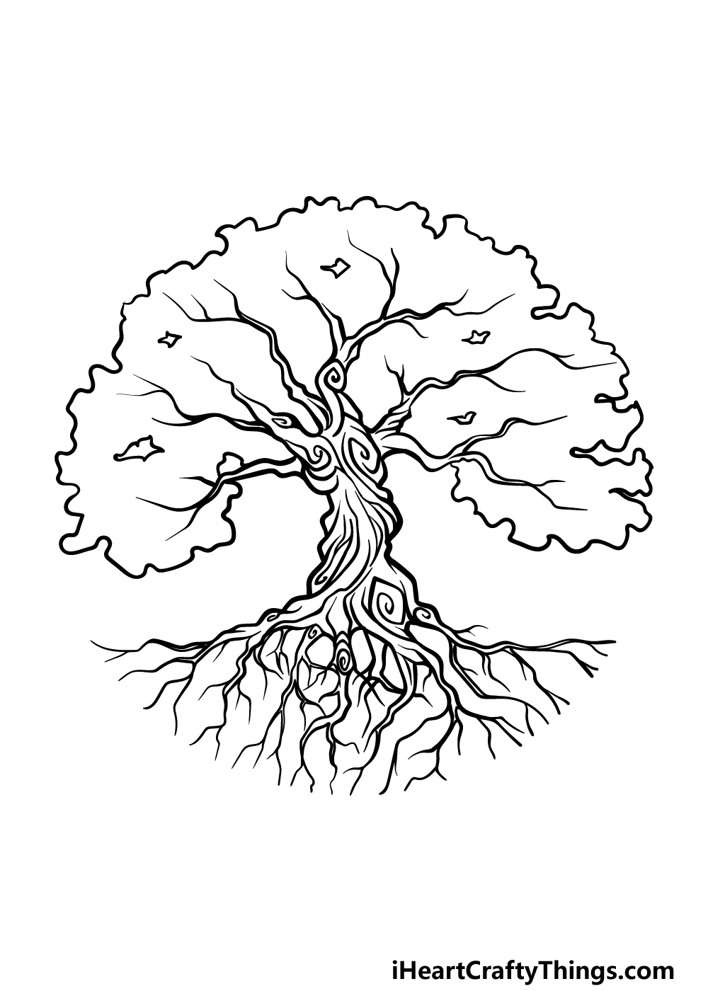 drawing the tree of life step 5
