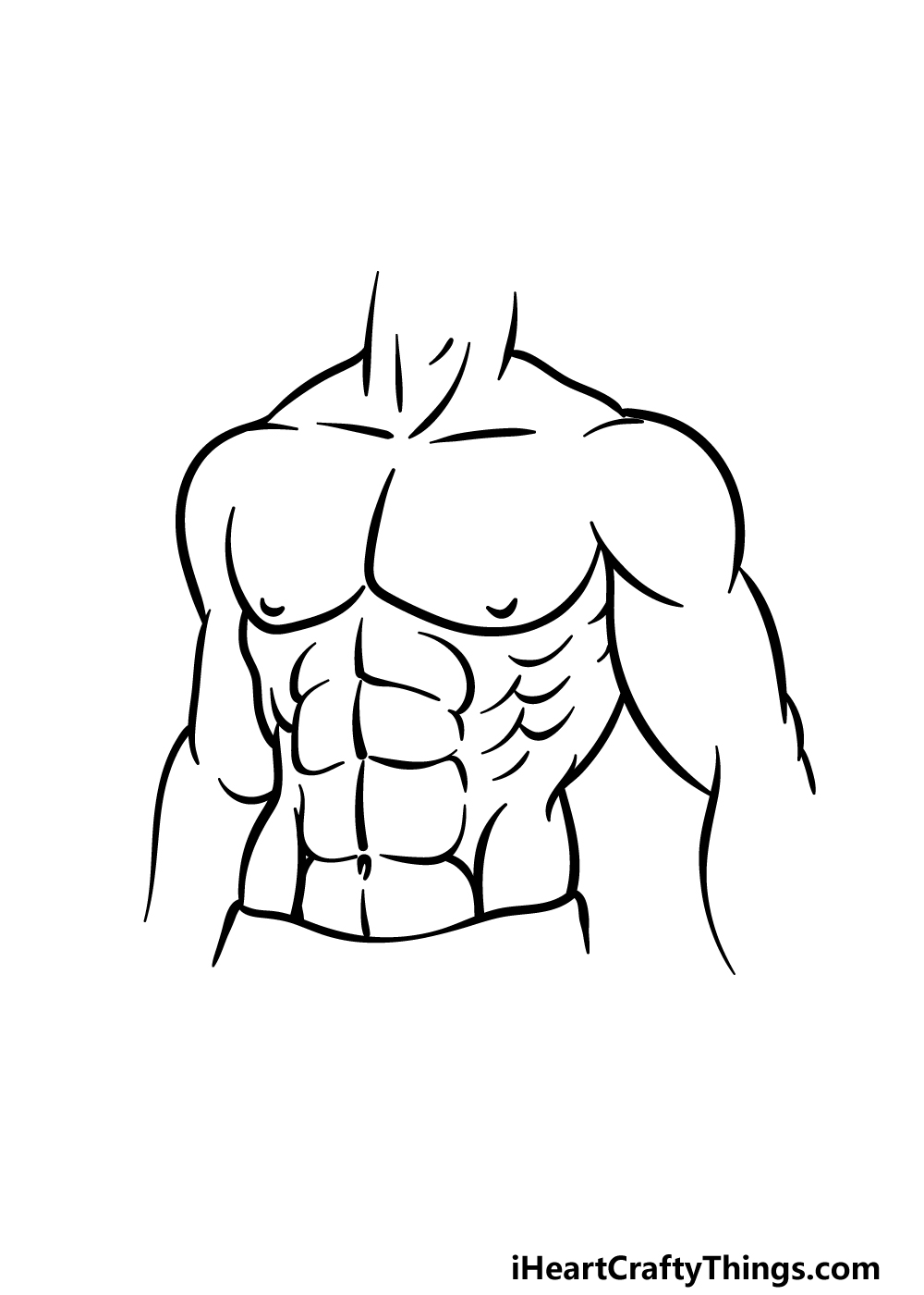 drawing abs step 5