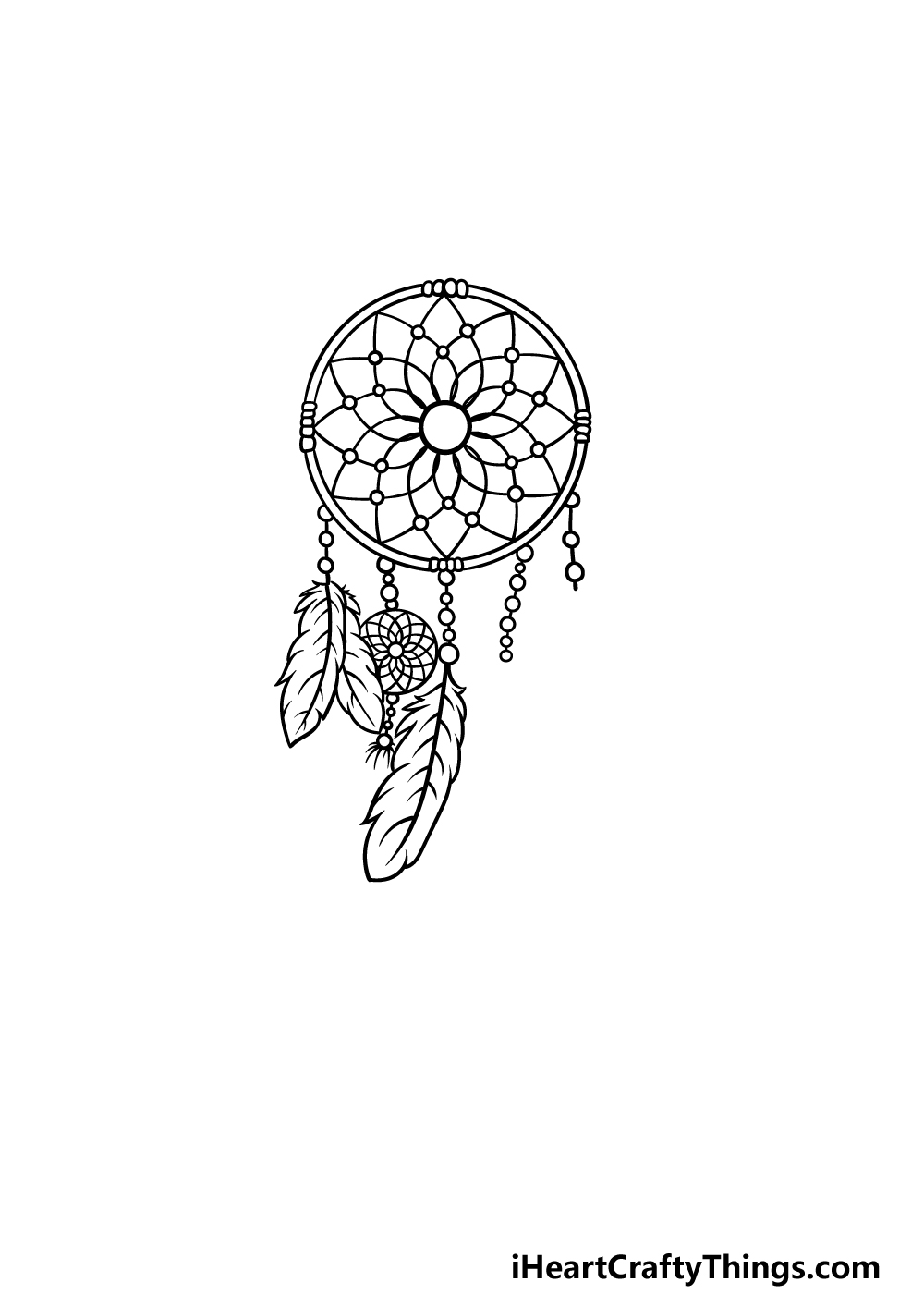 drawing dream catcher step 5
