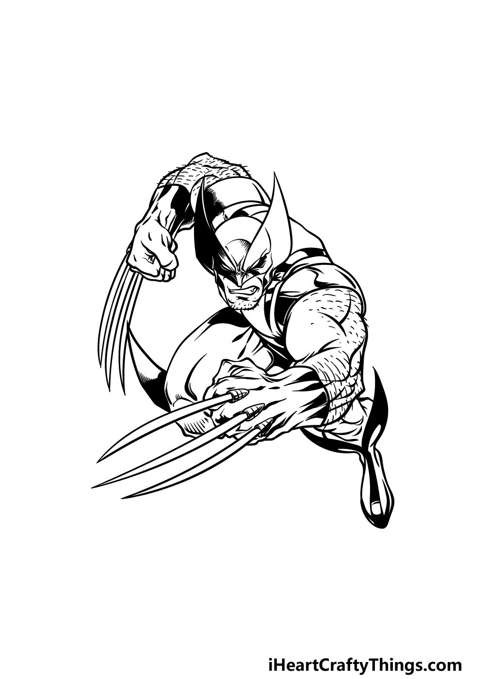 drawing wolverine step 5