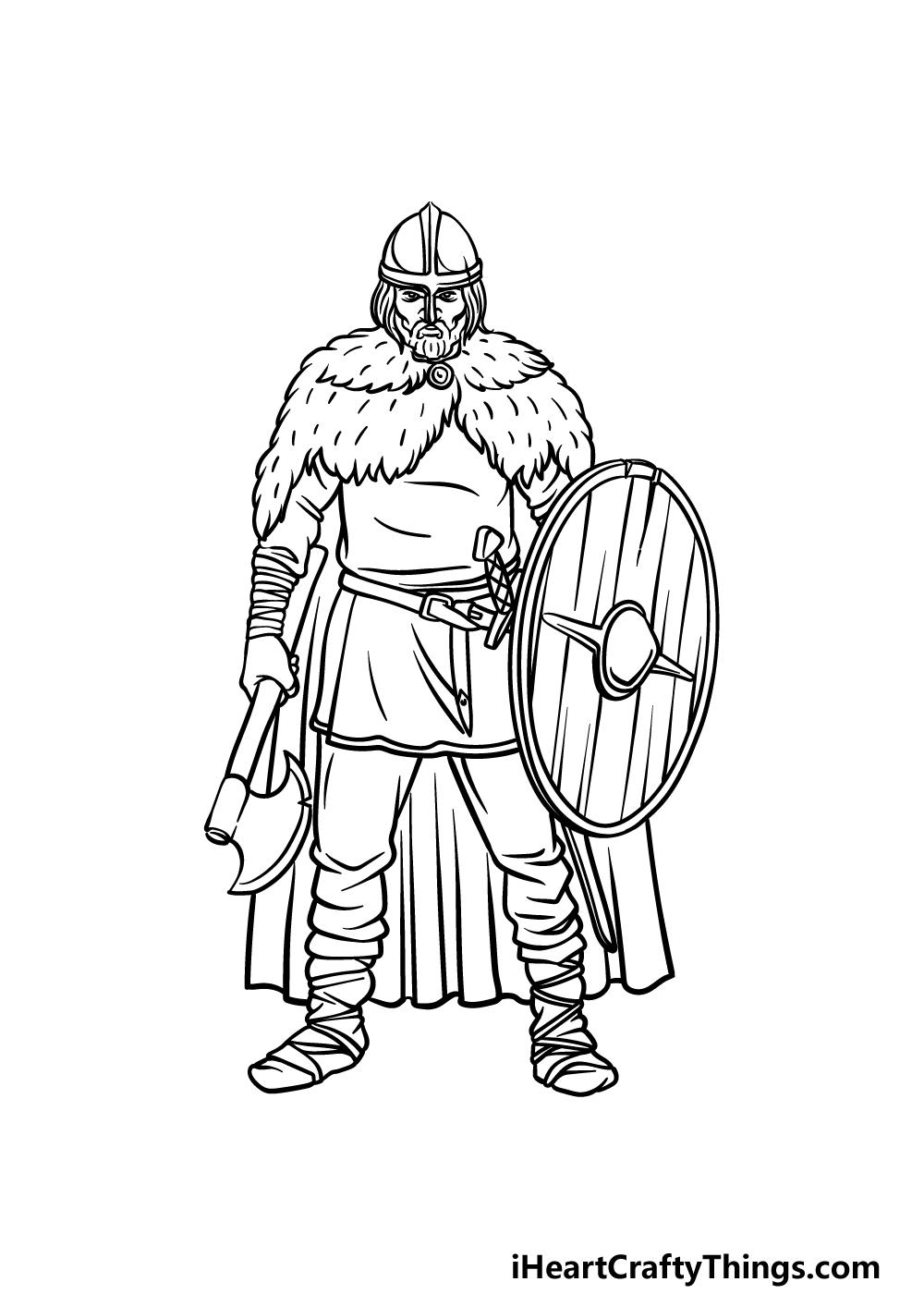 drawing a viking step 5