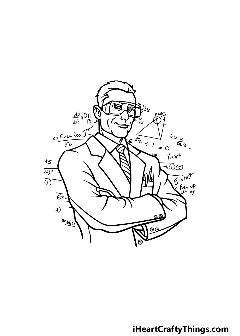 drawing a scientist step 5