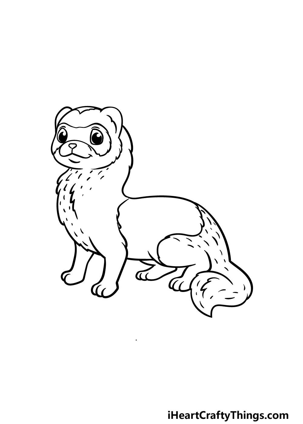 drawing a ferret step 5