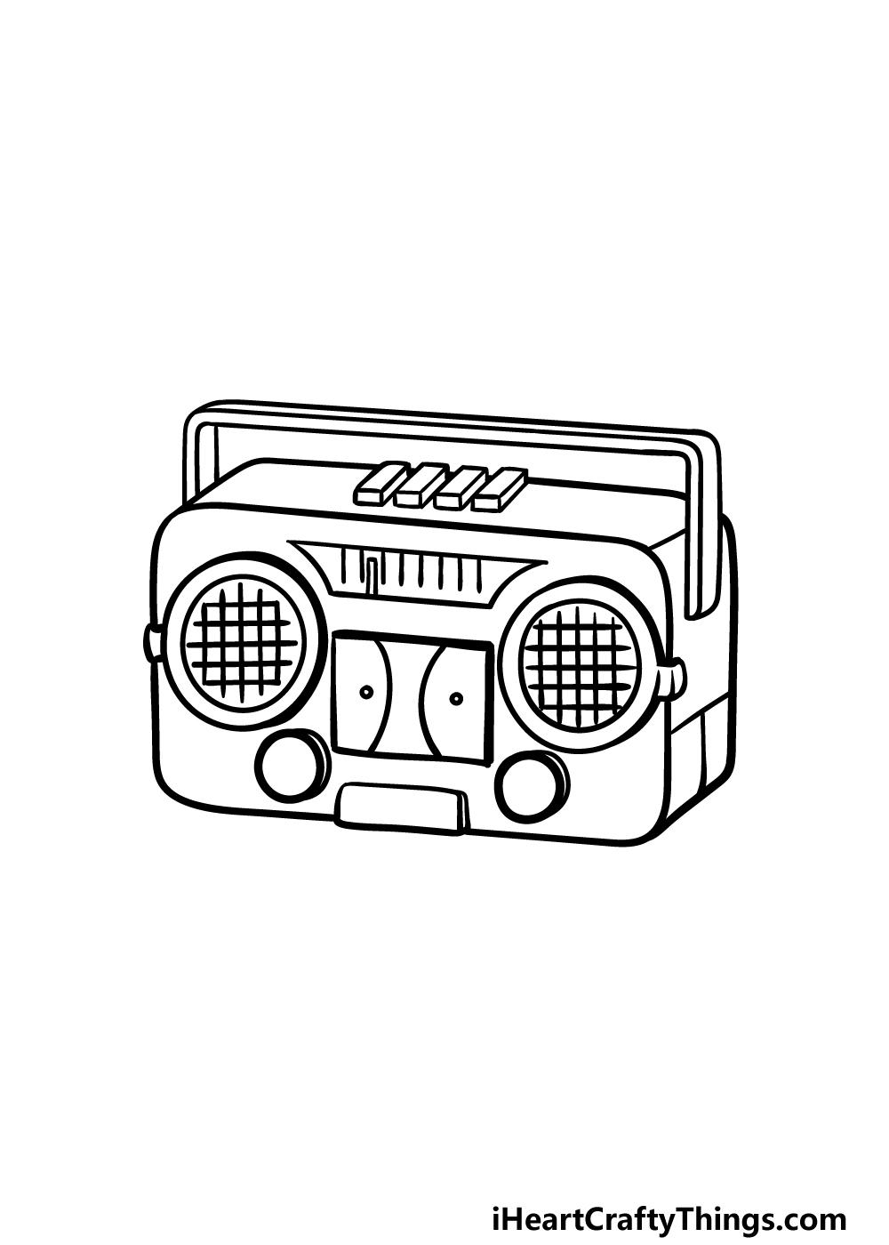 drawing a radio step 5
