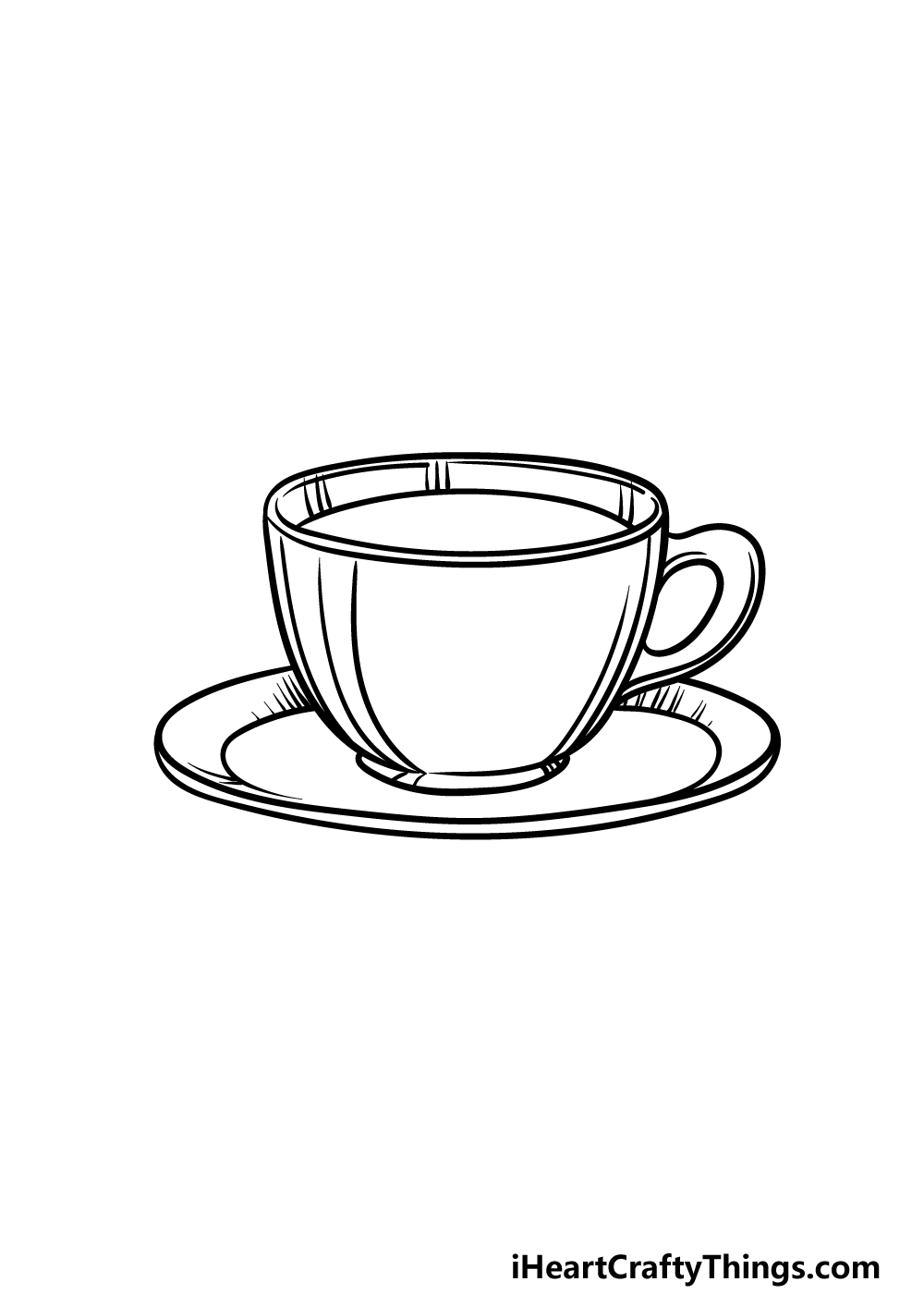 drawing a tea cup step 5