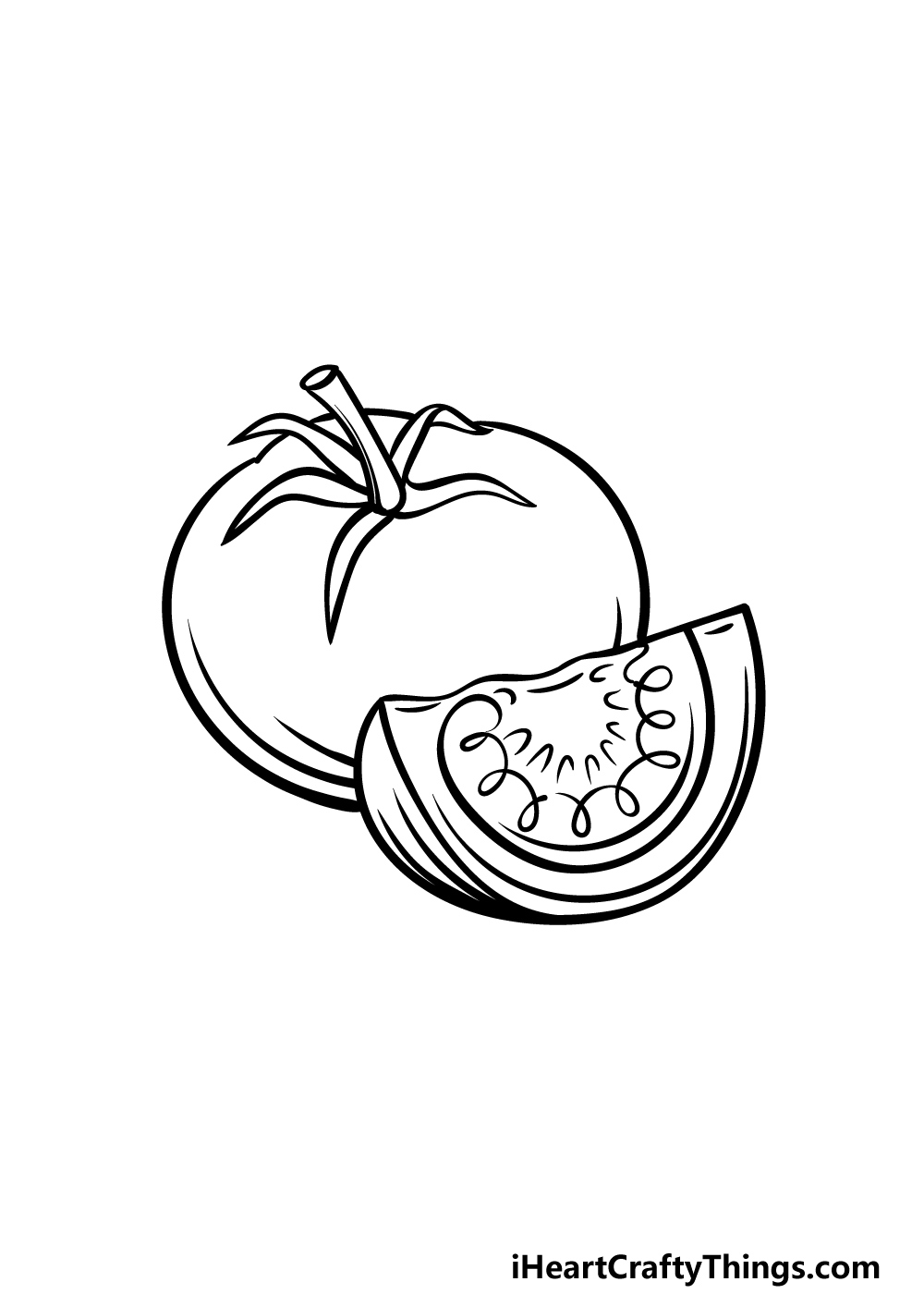 drawing a tomato step 5