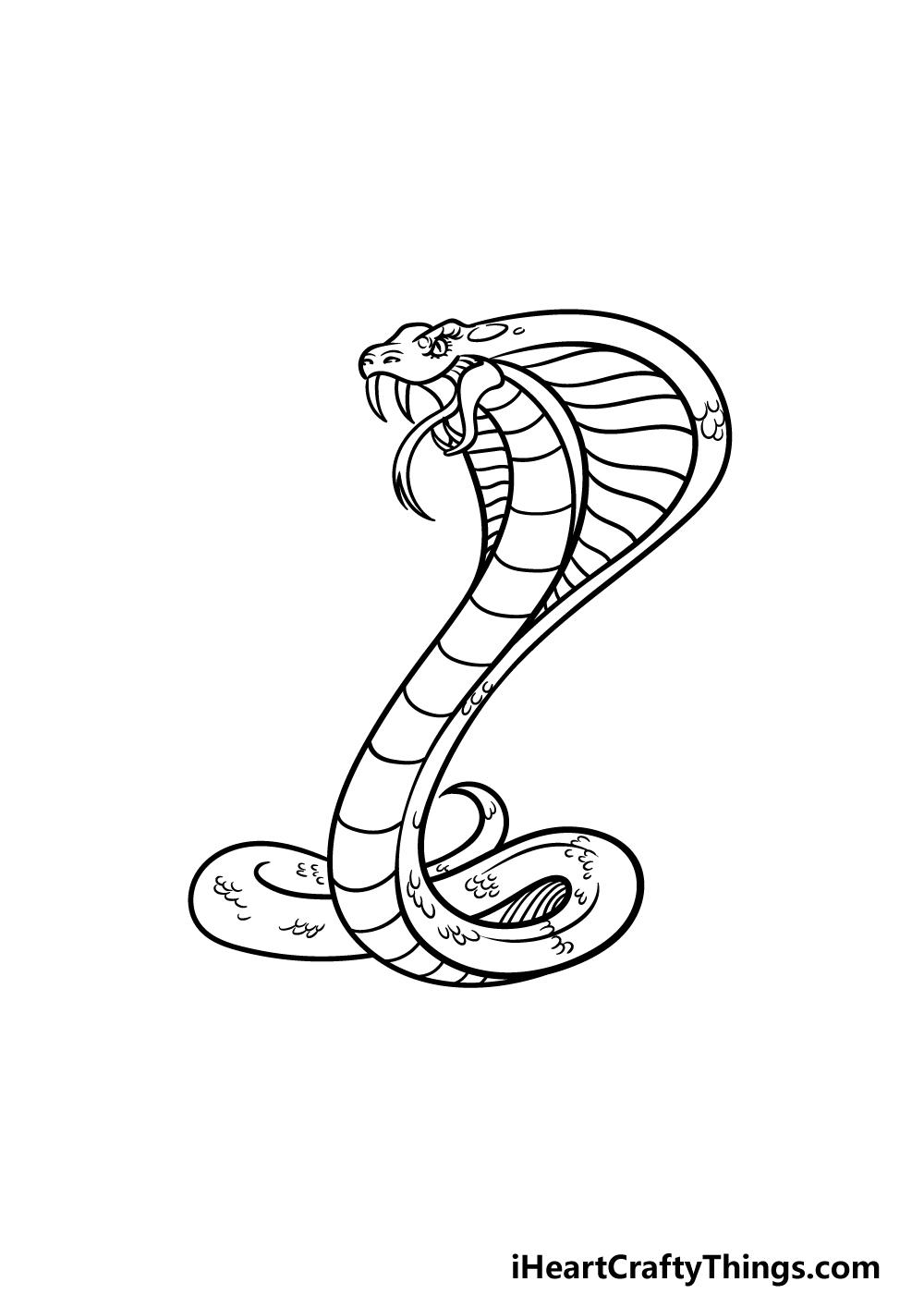 drawing cobra step 5