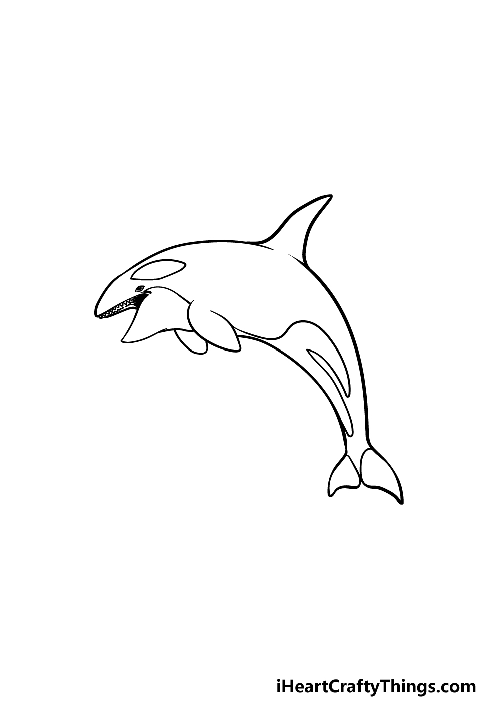 drawing an orca step 5