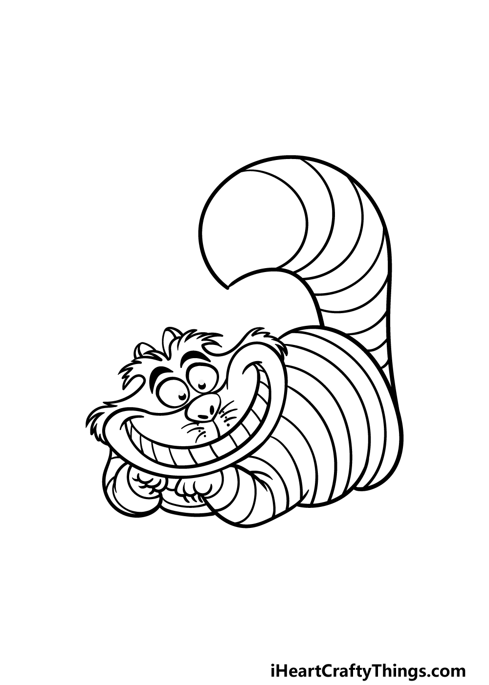 drawing the Cheshire Cat step 5