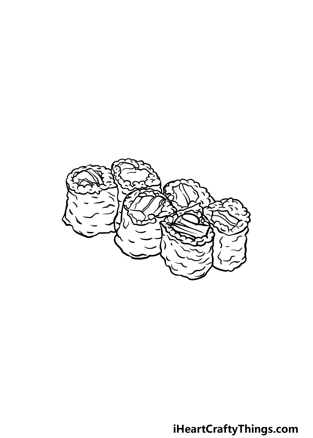 drawing sushi step 5