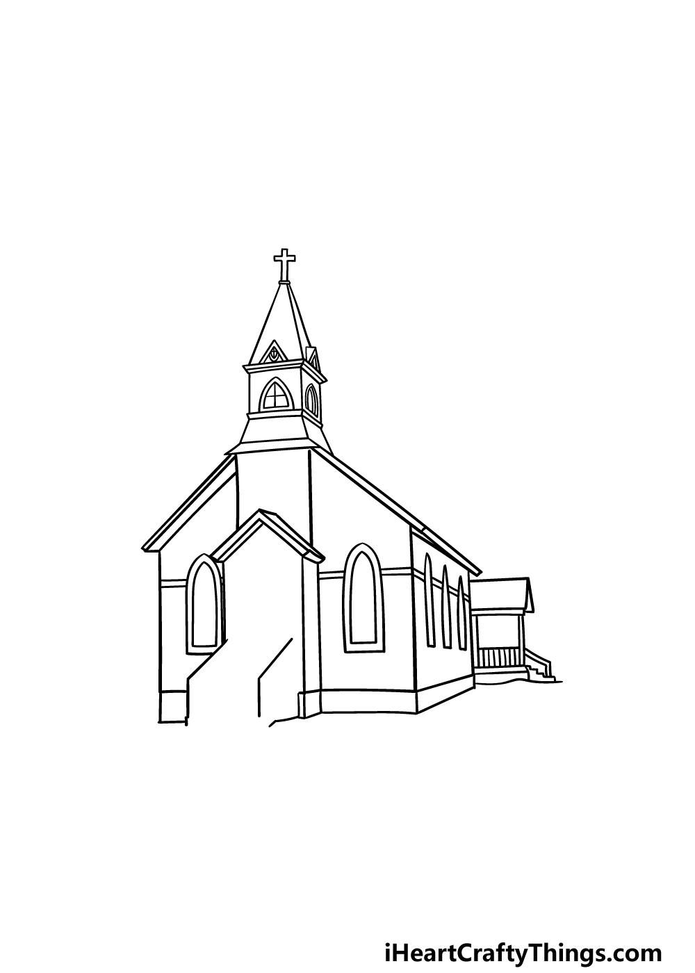 drawing a church step 5