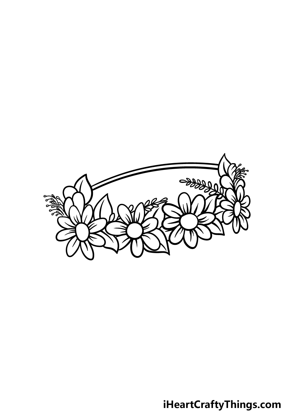 drawing a flower crown step 5