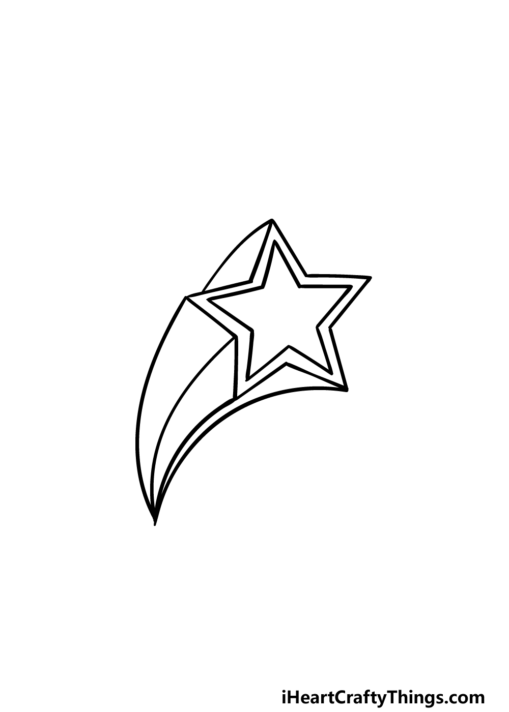 drawing a Shooting Star step 5
