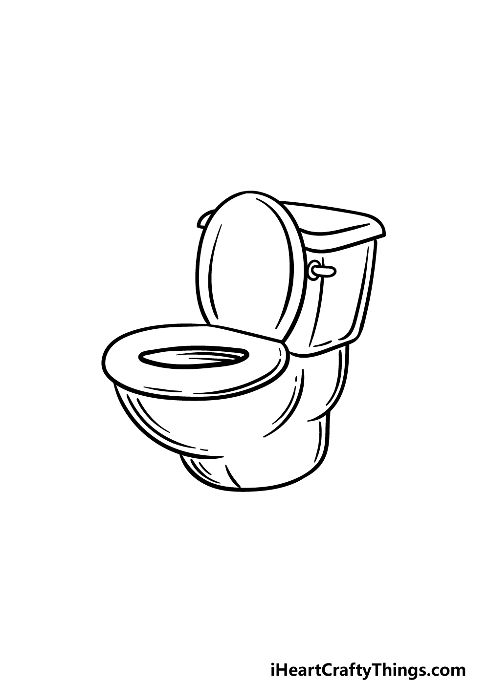 drawing a toilet step 4