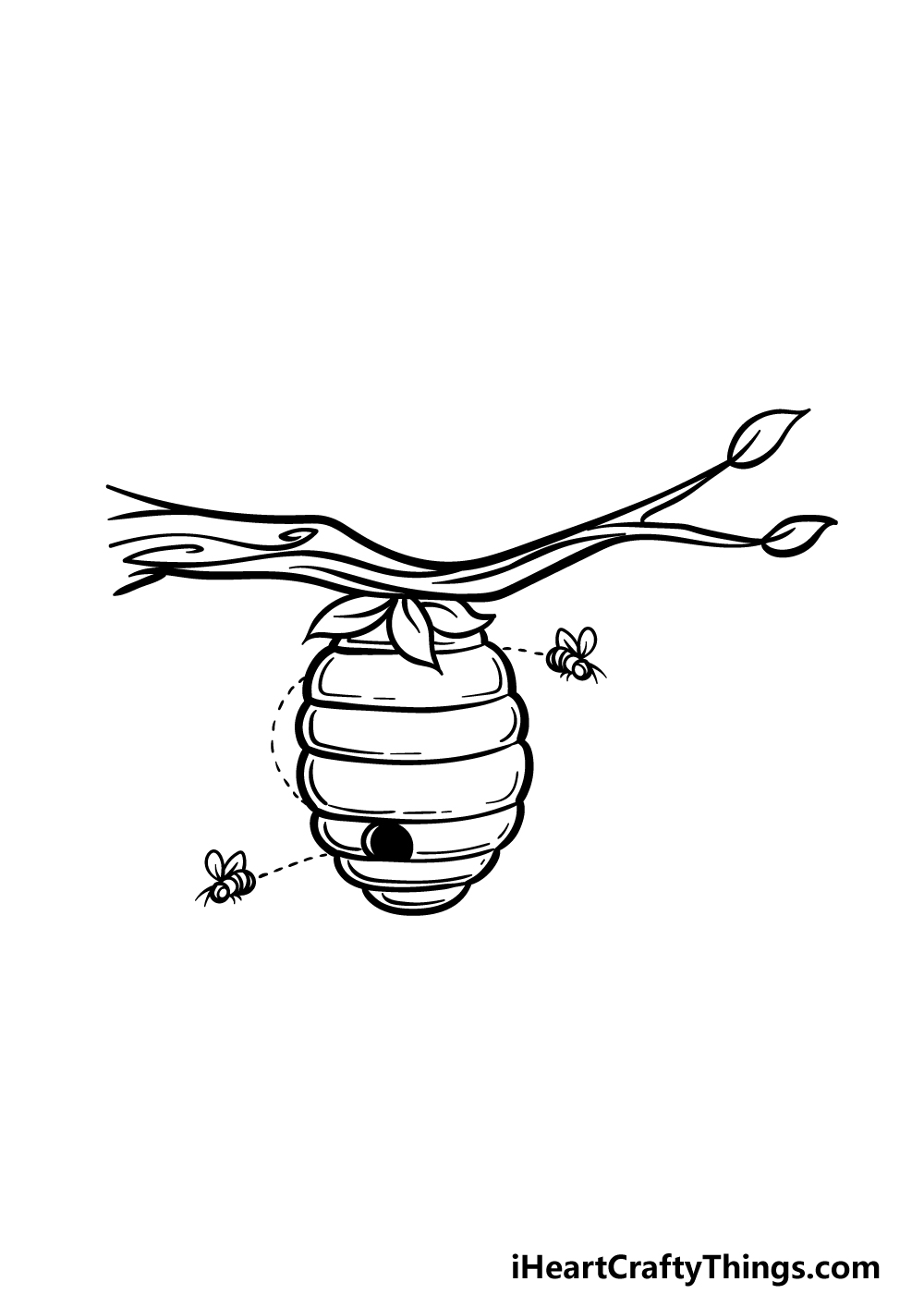 drawing beehive step 5