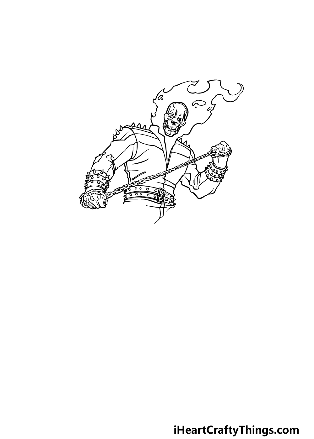 drawing Ghost Rider step 5