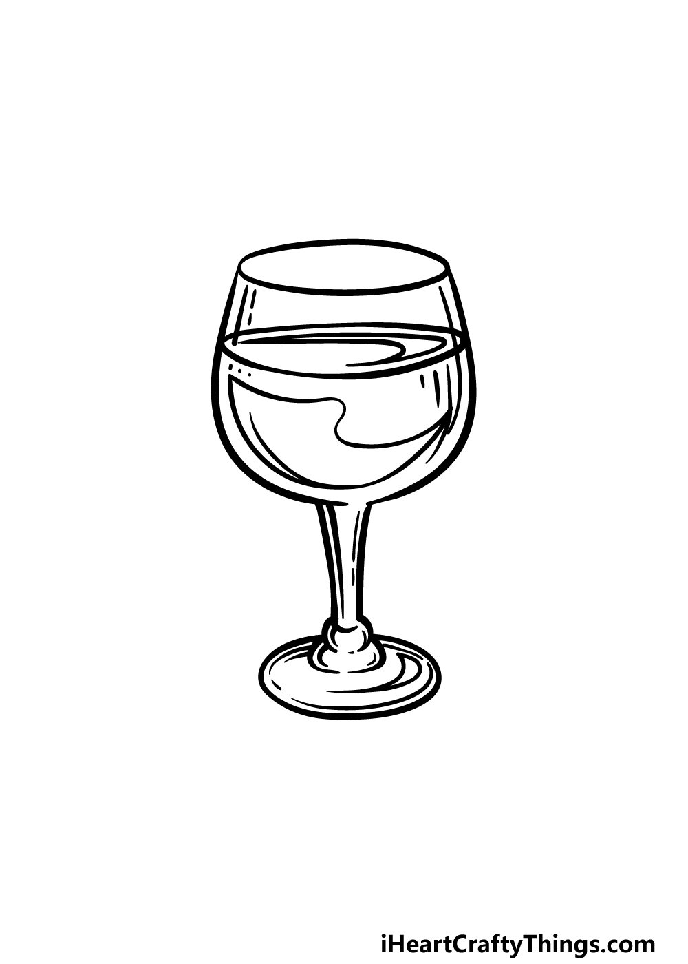 drawing a wine glass step 5