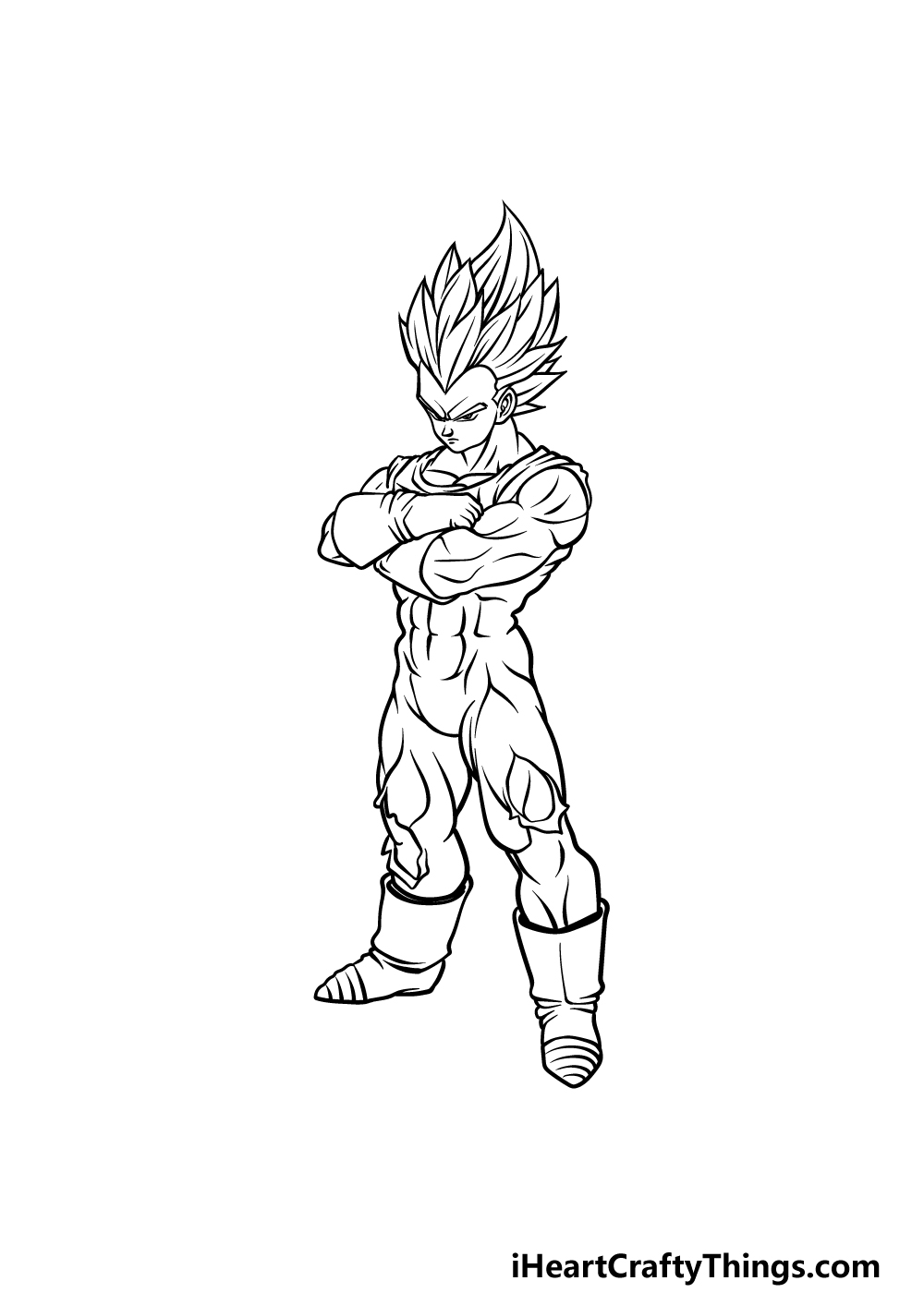 drawing Vegeta step 5