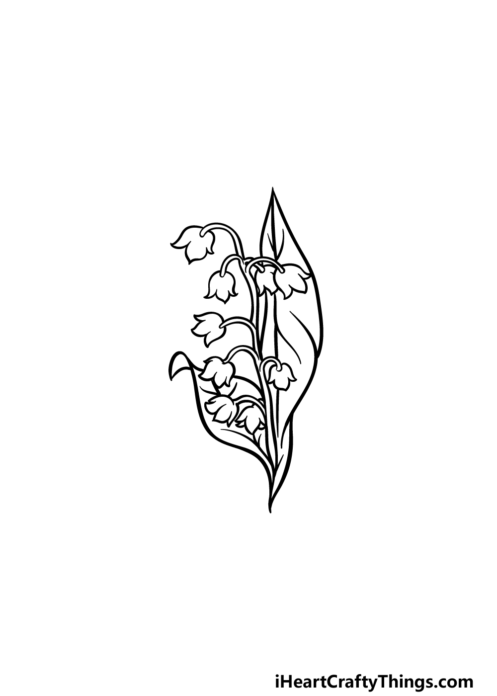 drawing lily of the valley step 5
