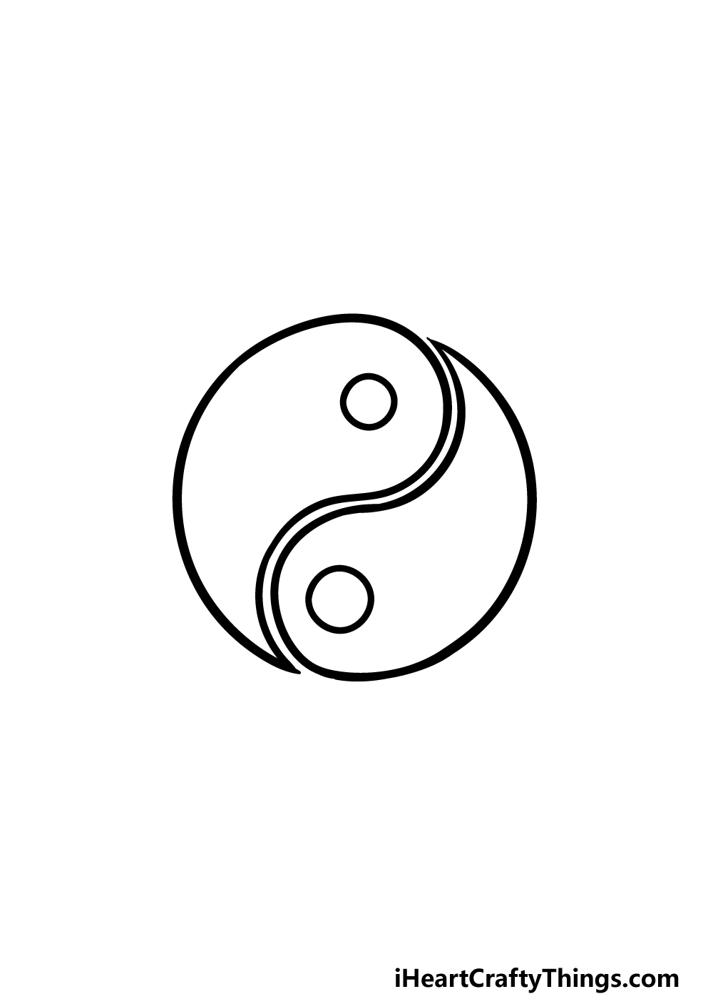 drawing Yin and Yang step 5