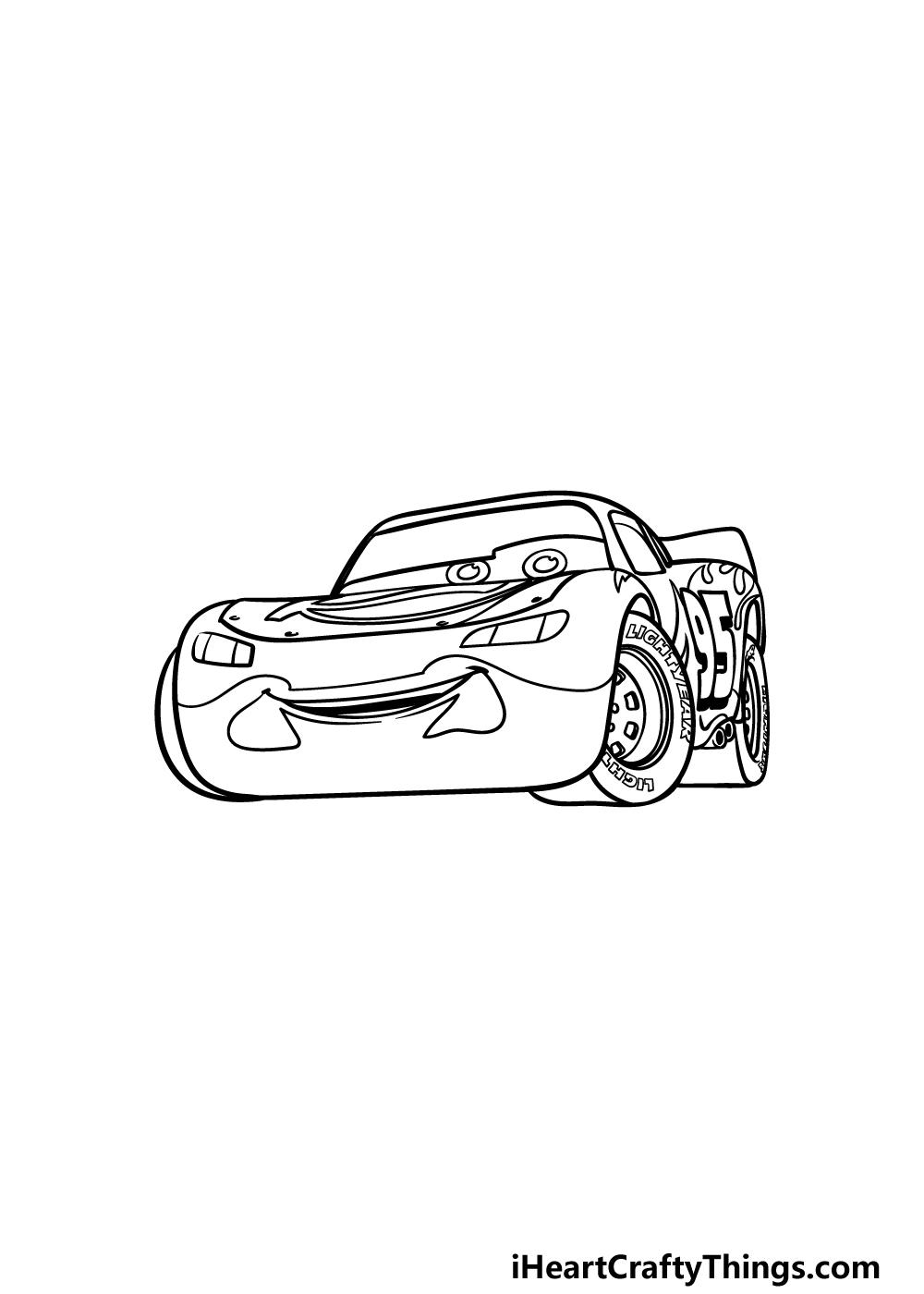 drawing Lightning McQueen step 5