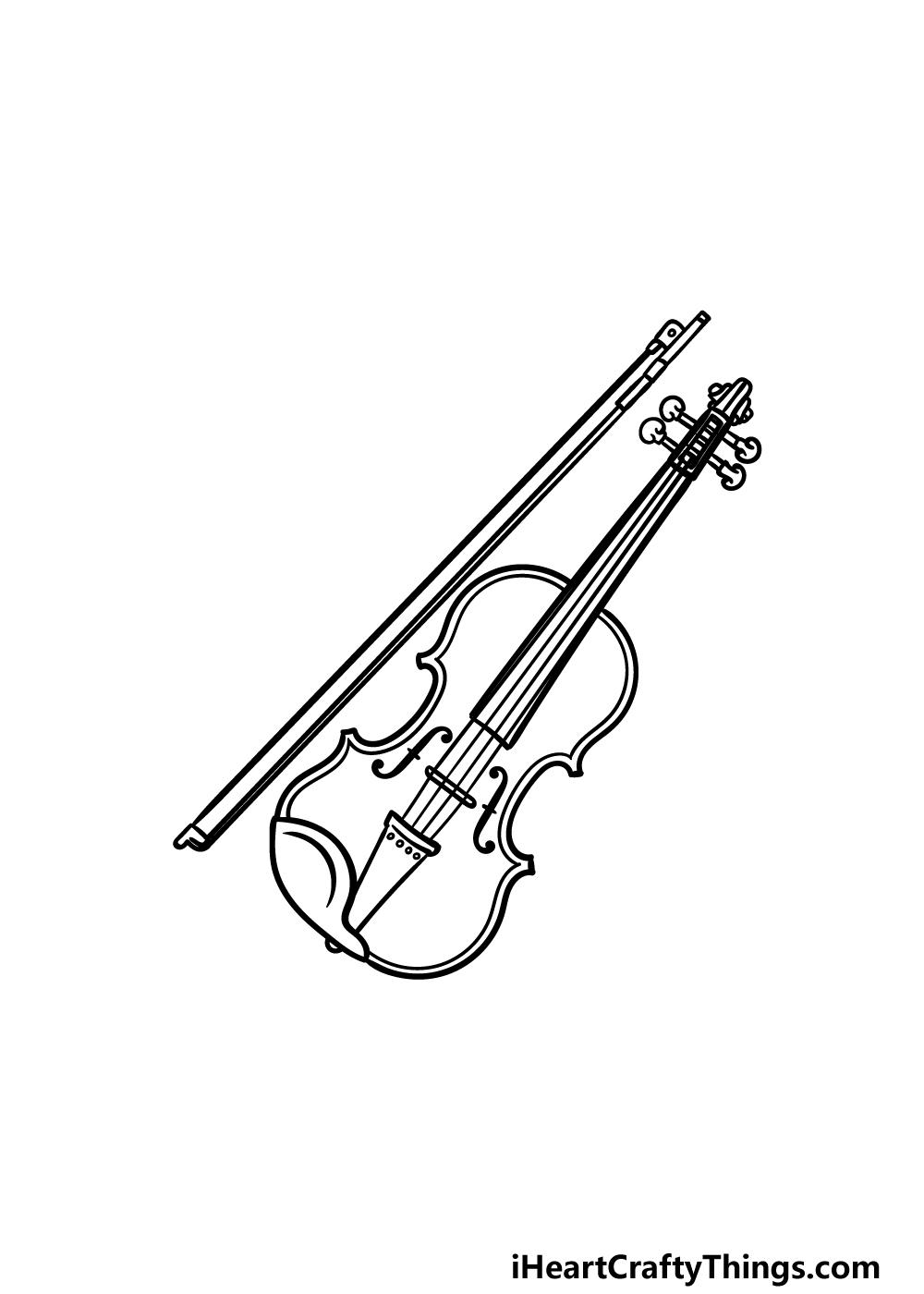 drawing a violin step 5