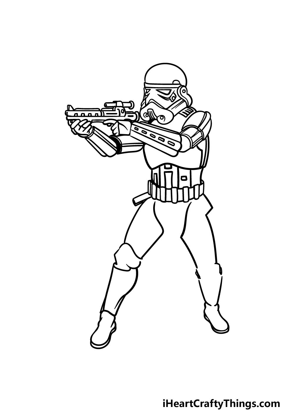 drawing a Stormtrooper step 5