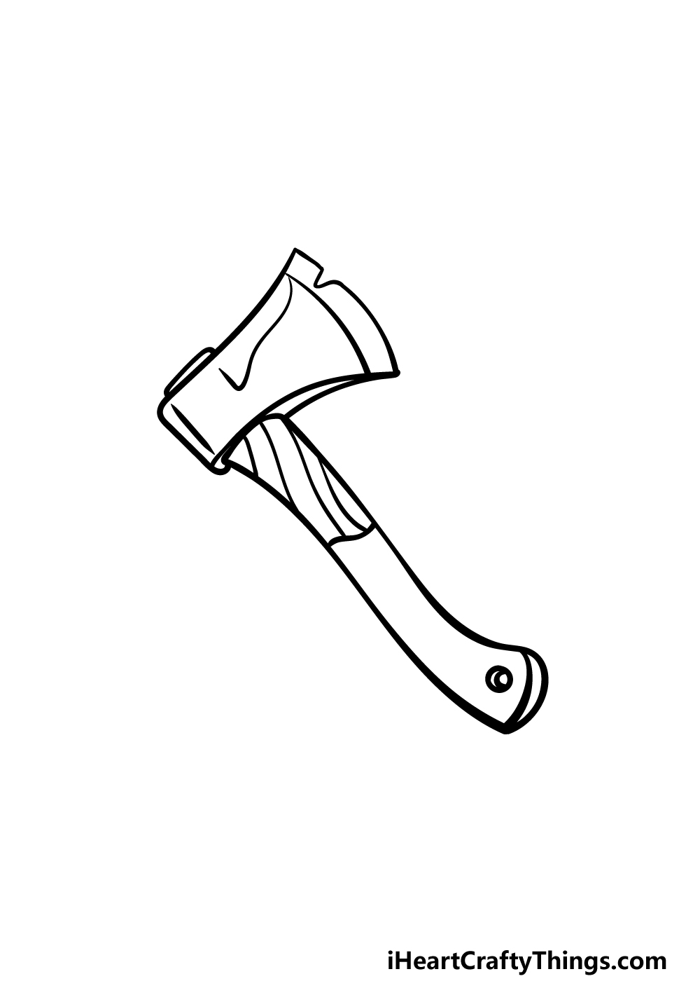 drawing an axe step 5