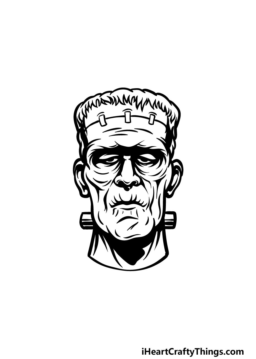 Drawing Frankenstein step 5