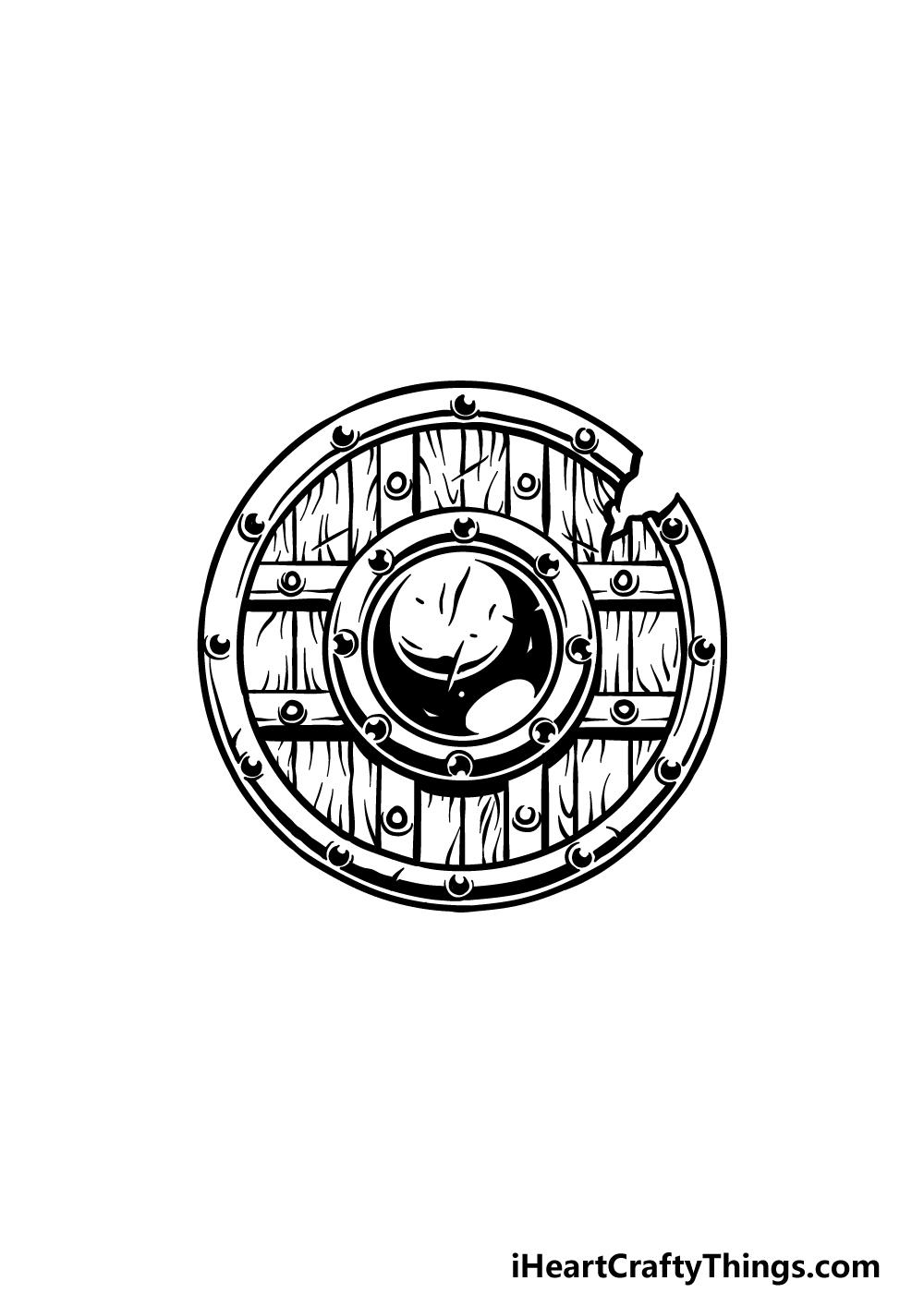 drawing a shield step 5