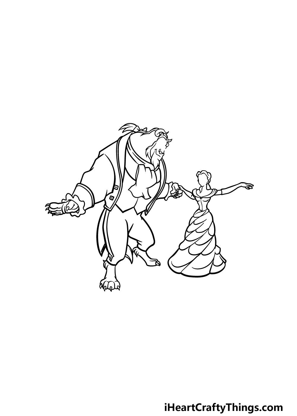 drawing Beauty and the Beast step 5