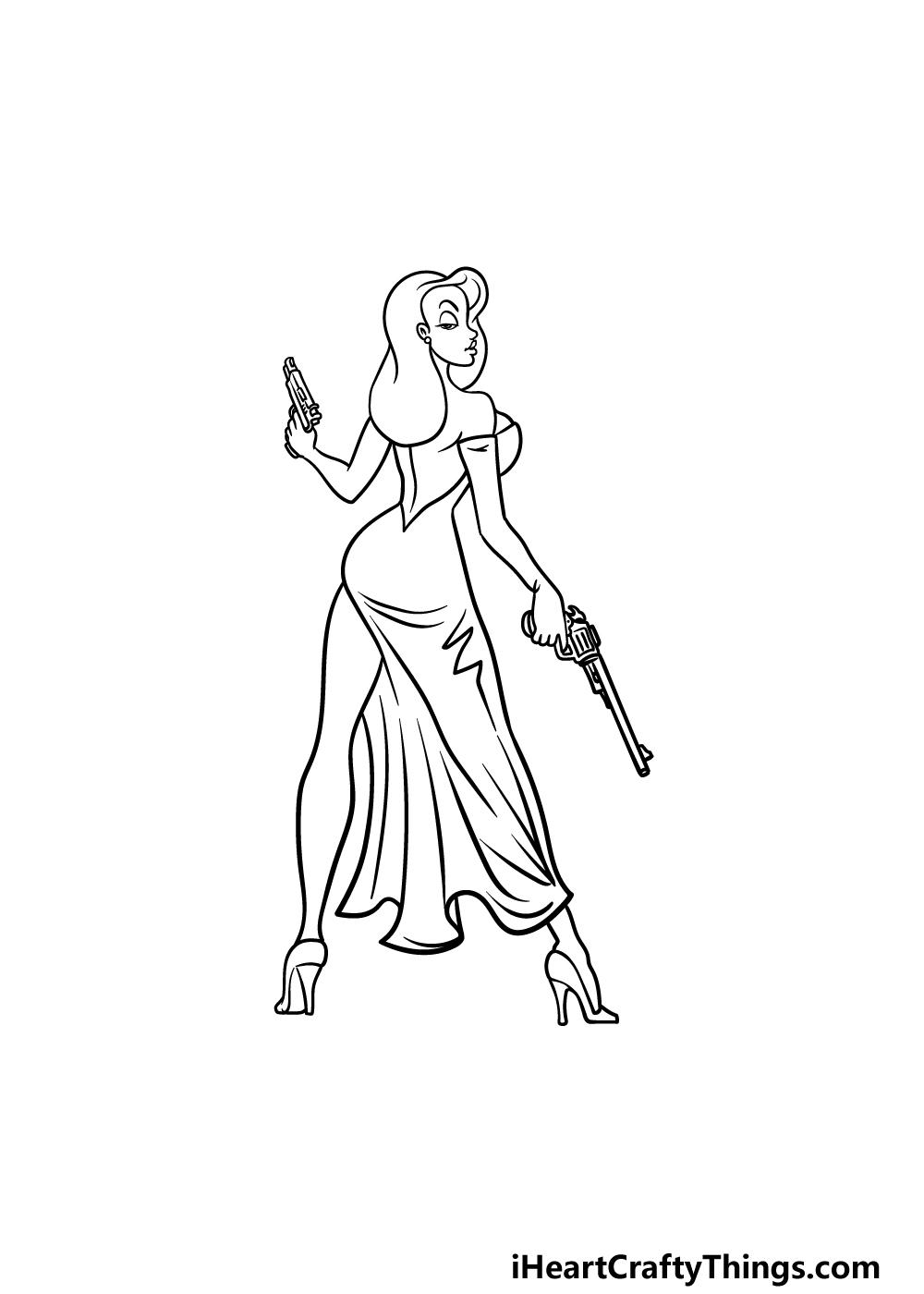 drawing Jessica Rabbit step 5