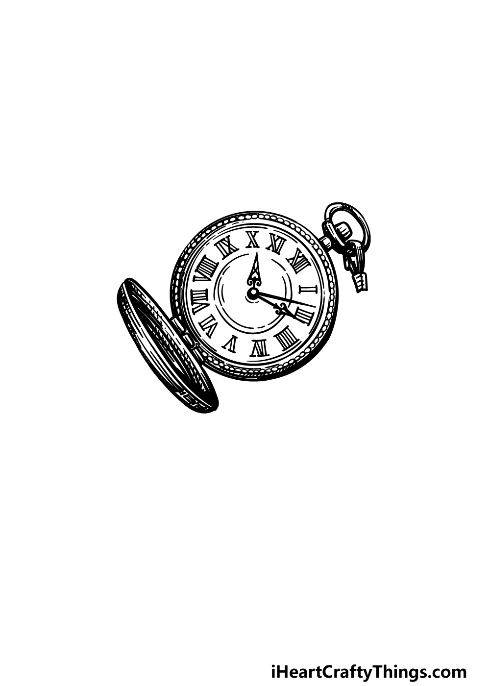 drawing a pocket watch step 5